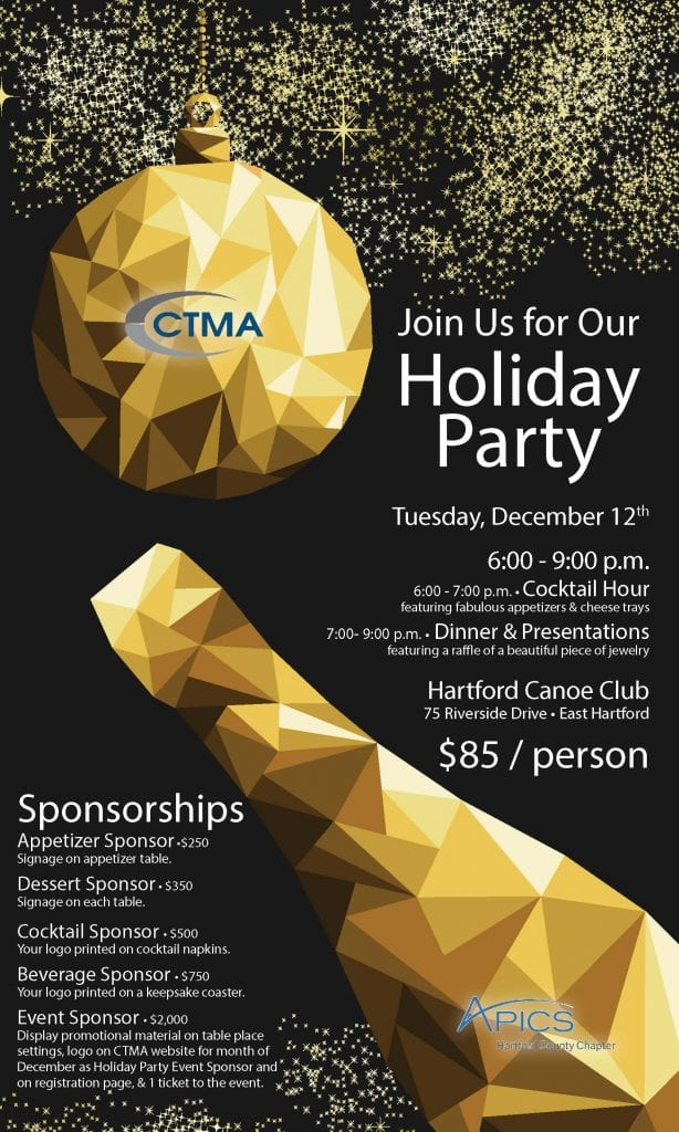CTMA Holiday Party Flyer